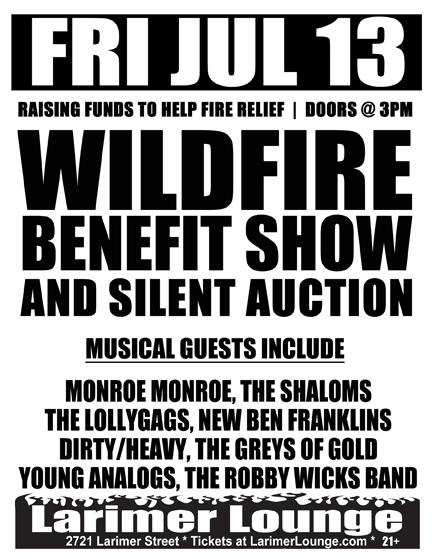 Colorado Wildfire benefit