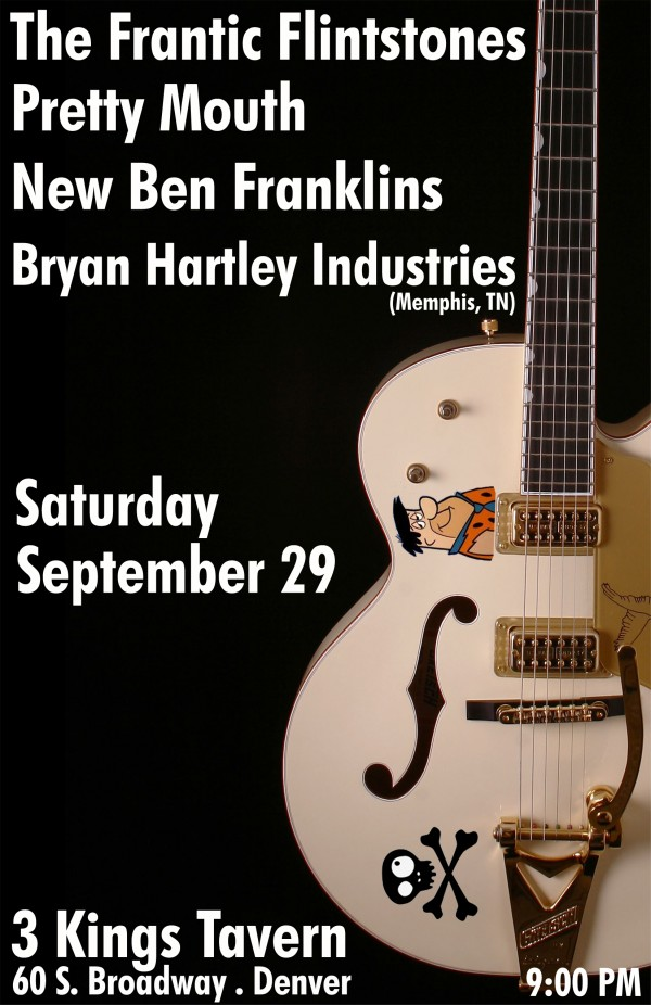 Bryan Hartley, NBF, Pretty Mouth, & Frantic Flintstones @ 3 Kings