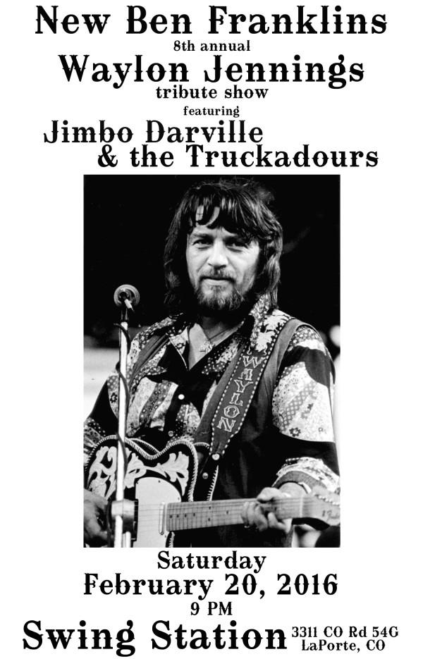 WAYLON tribute shows! Swing Station w/ Jimbo Darville & the Truckadours!