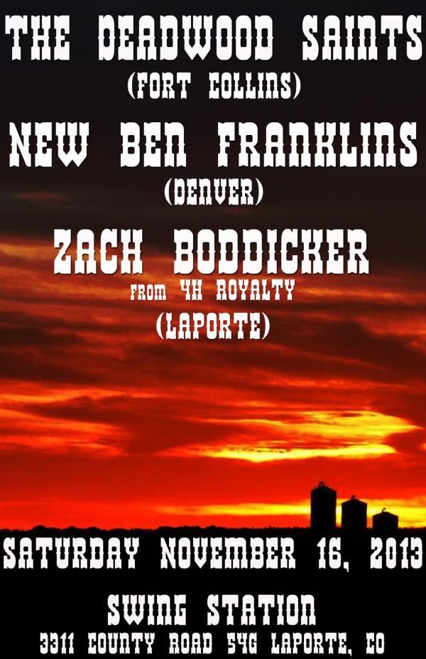 Swing Station with Deadwood Saints and Zach Boddicker!